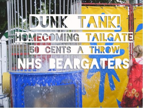 What kind of tank? A Dunk Tank!