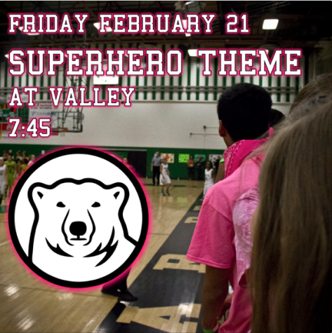 This Friday, February 21 is a Superhero Theme at Valley. Tip-off at 7:45 #pbn #nhsoracle