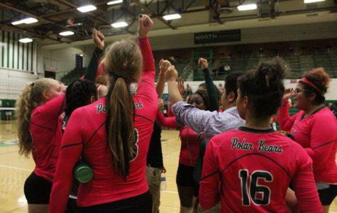 Volleyball members, fans and family unite for last home game