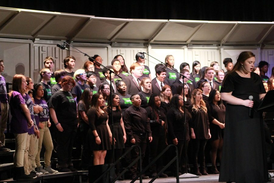 All the schools; North, North Alumni, Harding, Findley, Cattle, Madison, Oak Park all joined in the end of the night to sing