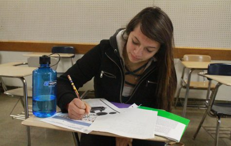Jennyfer Villarreal has always made studying a priority both on the beach in Mexico and in the North student center.
