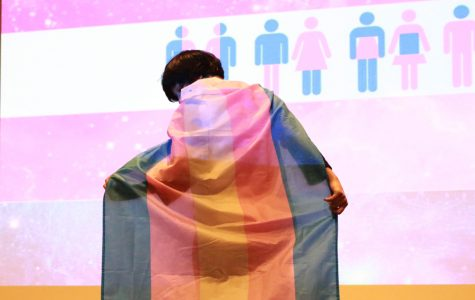 The Gender Expression Show ended with models displaying outfits and LGBTQ+ pride items of choice that fit into the theme of