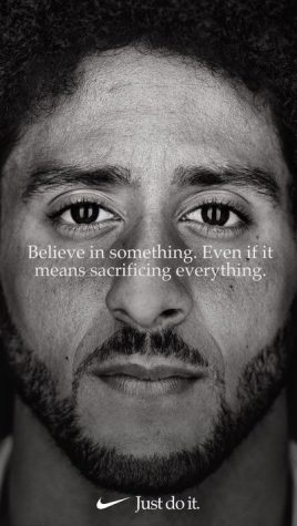 The Nike ad that caused the controversy shows a close up of former NFL player Colin Kaepernick.