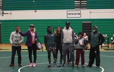 North-Hoover wrestling senior night