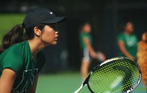 Hitting Districts Together: Girl's Tennis Team Districts