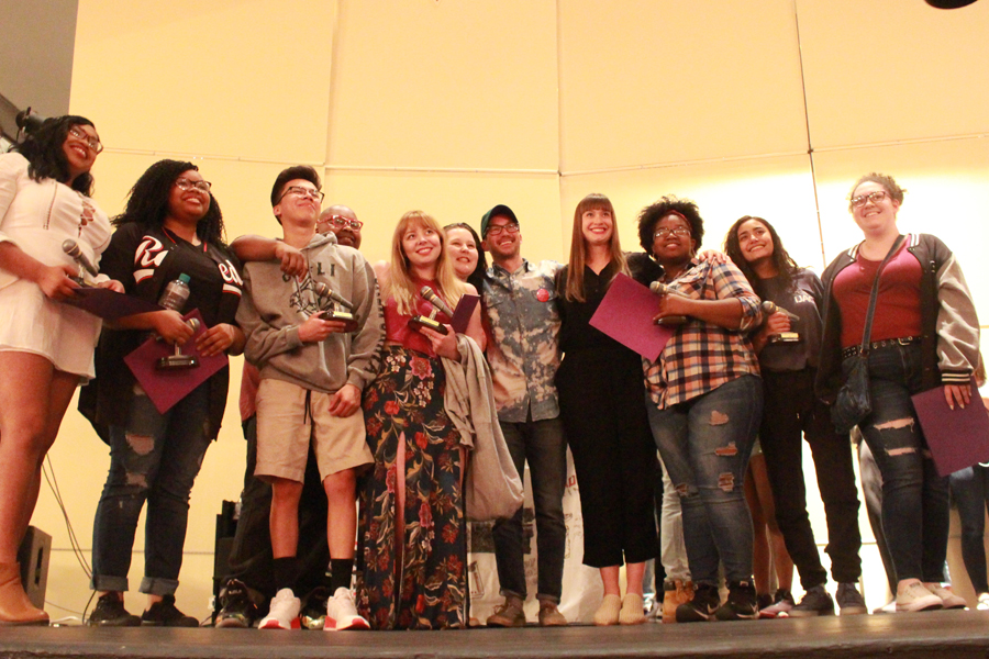 The 2017 BNV team gather together at the end of the show to congratulate each other.