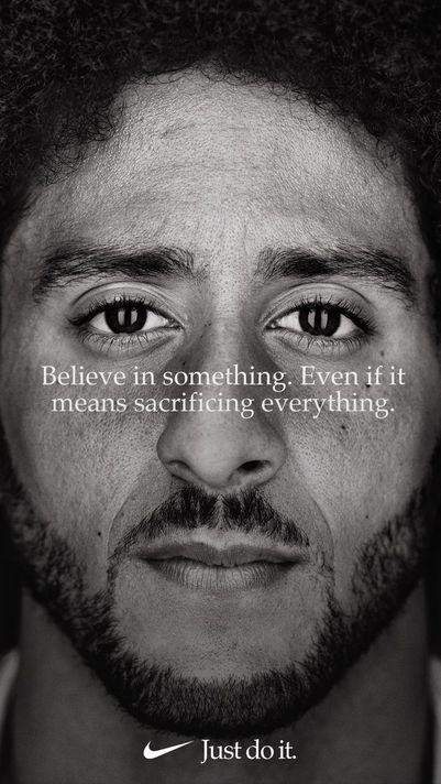 The+Nike+ad+that+caused+the+controversy+shows+a+close+up+of+former+NFL+player+Colin+Kaepernick.